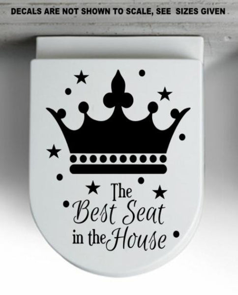 Best Seat In The House Bathroom Quote Wall Art Sticker Vinyl Decal