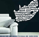 SOUTH AFRICA AFRIKAANS WORDS WALL ART STICKER LRG VINYL DECAL - Vinyl Lady Decals  - 1