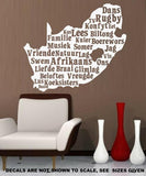 SOUTH AFRICA AFRIKAANS WORDS WALL ART STICKER LRG VINYL DECAL - Vinyl Lady Decals  - 5