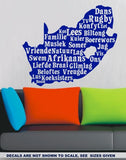 SOUTH AFRICA AFRIKAANS WORDS WALL ART STICKER LRG VINYL DECAL - Vinyl Lady Decals  - 4