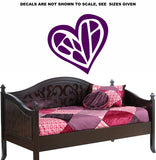 Abstract Heart Wall Art Sticker Vinyl Decals Various Sizes