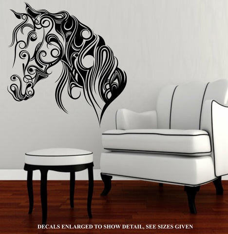 Calligraphy Horse Face Wall Art Sticker Vinyl Decal Various Sizes
