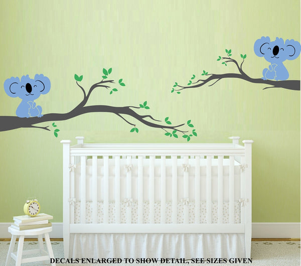 Koala Bears Baby Nursery Wall Art Sticker Vinyl Decals Set Various Sizes