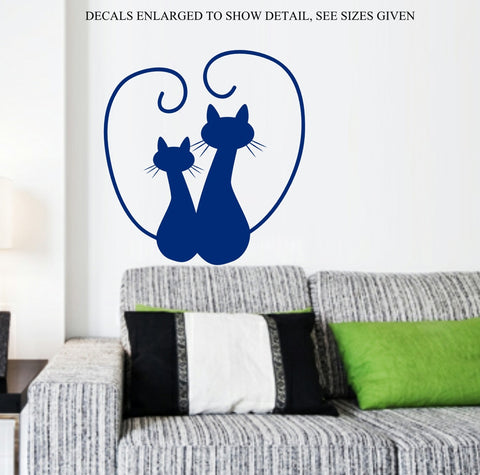 Cute Cats Wall Art Sticker Vinyl Decal Various Sizes