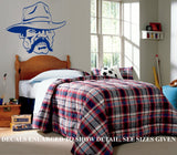 OLD COWBOY SILHOUETTE WALL ART STICKER VINYL DECAL VARIOUS SIZES