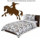 RODEO HORSE WALL ART STICKER VINYL DECAL VARIOUS SIZES