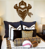 Bandit Face Wall Art Sticker Vinyl Decal Various Sizes