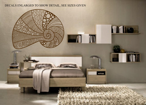 Ornate Shell Wall Art Sticker Vinyl Decal Various Sizes