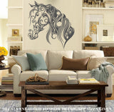Calligraphic Horse Face Wall Art Sticker Vinyl Decal Various Sizes