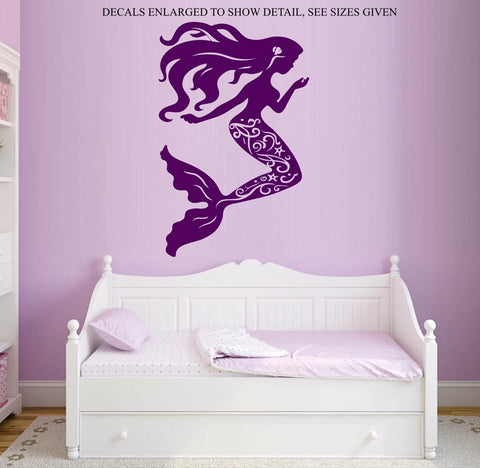 MERMAID WALL ART STICKER VINYL DECAL VARIOUS SIZES