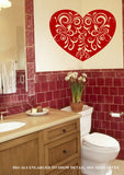 Antique-Style Heart Wall Art Sticker Vinyl Decal Various Sizes
