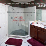 Save Water Shower Together Bathroom Quote Wall Art Sticker Vinyl Decal Various Sizes