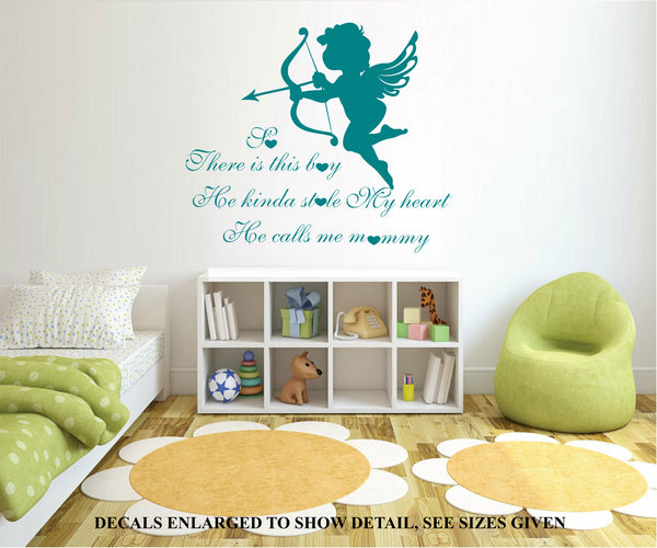 This Boy Stole My Heart, He Calls Me Mommy Quote Wall Art Sticker Vinyl Decal Various Sizes