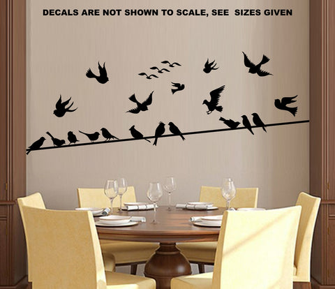 Birds on a Wire Wall Art Sticker Vinyl Decal