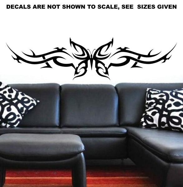 Tribal Butterfly Wall Art Sticker Vinyl Decal Various Sizes