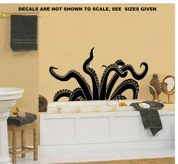 Octopus Kraken Tentacles Wall Art Sticker Vinyl Decal Various Sizes