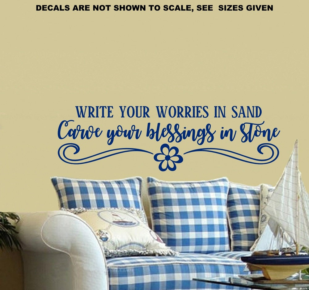 Carve Blessings Inspirational Quote Wall Art Sticker Vinyl Decal ...