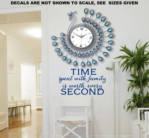 Time Spent With Family Wall Art Sticker Vinyl Decal Various Sizes