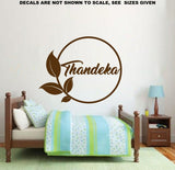 Leafy Frame Personalised Wall Art Sticker Vinyl Decal Various Sizes