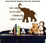 Memory Like an Elephant Funny Quote Wall Art Sticker Vinyl Decal Various Sizes