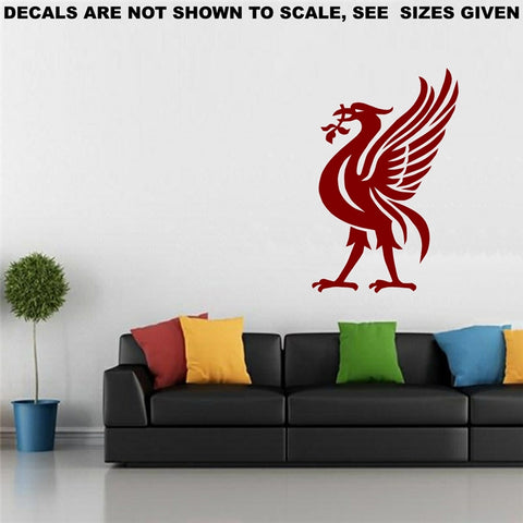Liverpool Football Club Bird Wall Art Sticker Vinyl Decal Various Sizes
