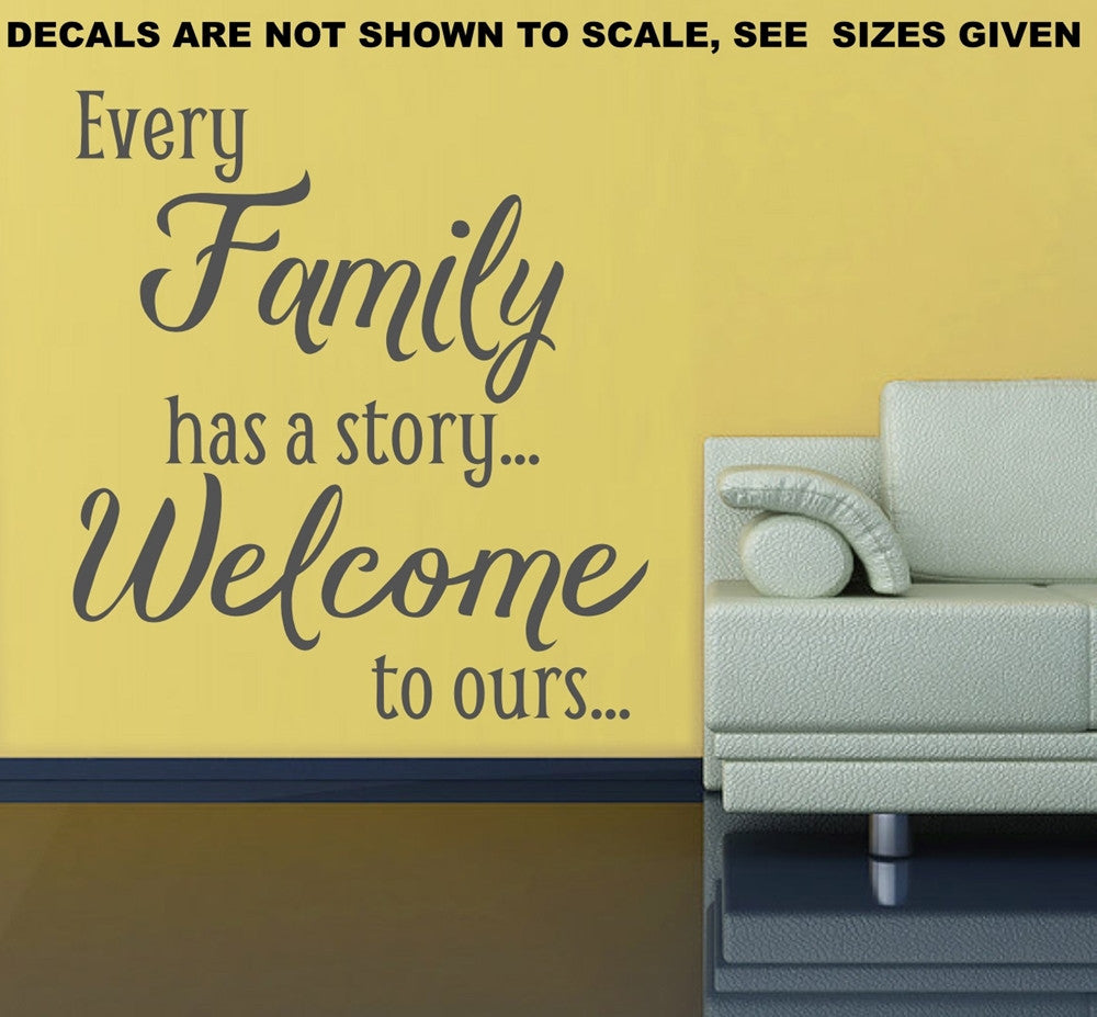 Every Family Has A Story Quote Wall Art Sticker Vinyl Decal Various ...
