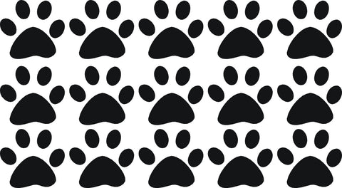Dog Pawprints Set of 15 Wall Art Stickers Vinyl Decals Various Sizes