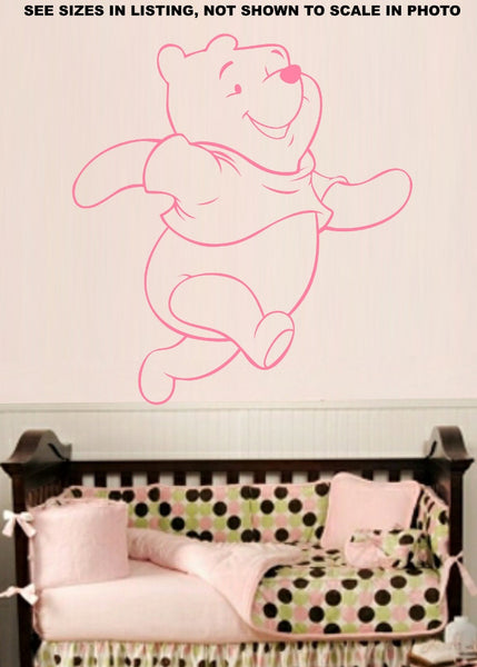 Winnie The Pooh Wall Art Sticker Vinyl Decal Various Sizes