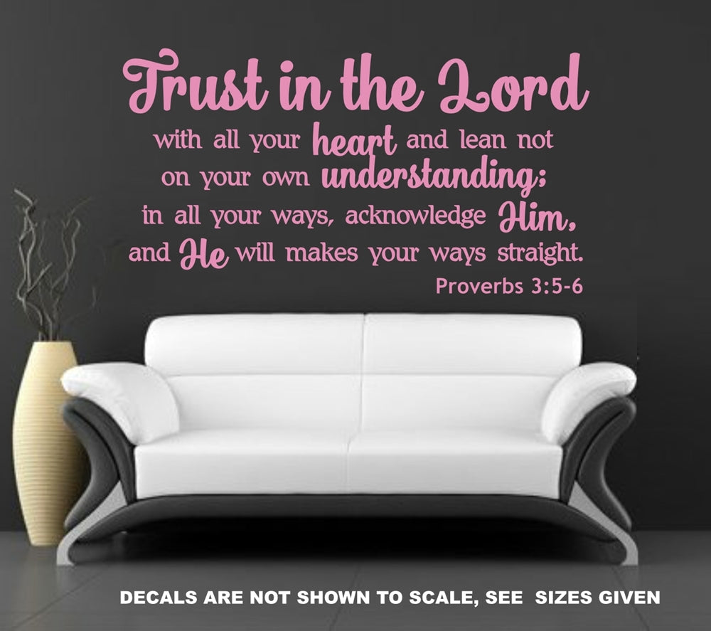 Trust In The Lord Proverbs 3 5 6 Quotation Horizontal Wall Art