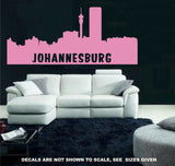 Johannesburg Cityscape Skyline Wall Art Sticker Vinyl Decal Various Sizes