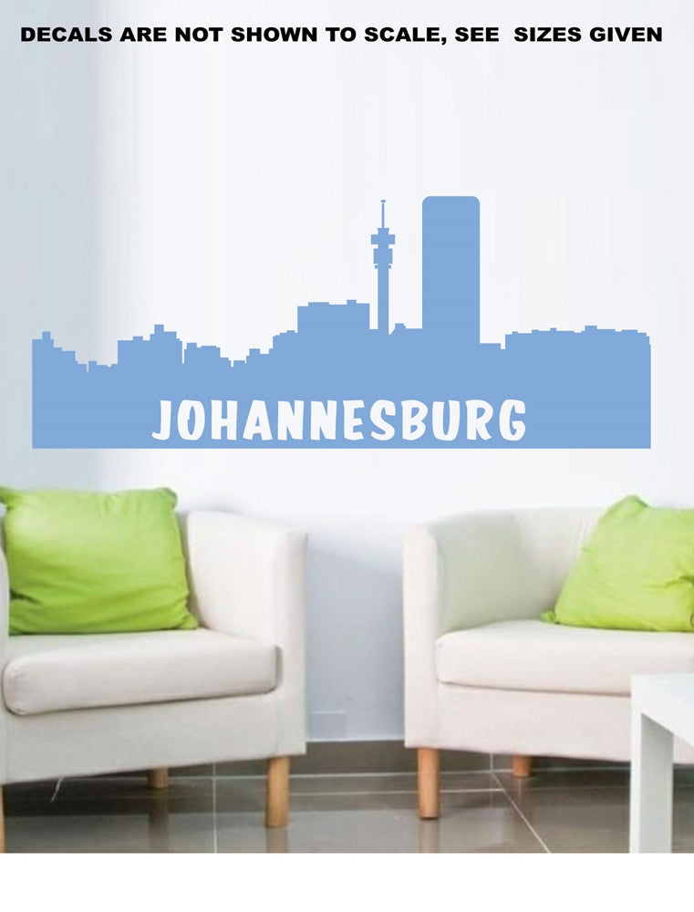 johannesburg cityscape skyline wall art sticker vinyl decal various