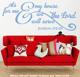 Joshua 24:15 As For Me And My House We Will Serve The Lord Bible Verse Quote Wall Art Sticker Vinyl Decal Various Sizes