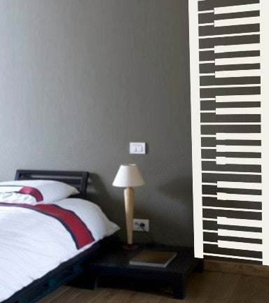 Piano Keys Wall Art Sticker Vinyl Decal Various Sizes
