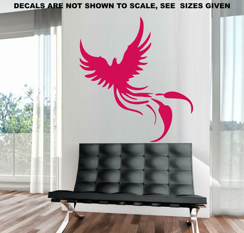 Phoenix Fantasy Mythical Bird Wall Art Sticker Vinyl Decal Various Sizes