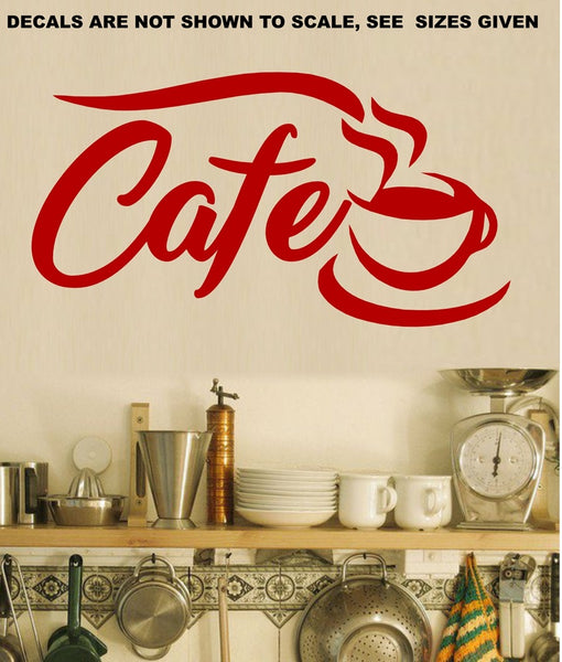Cafe Wall Art Sticker Vinyl Decal Various Sizes
