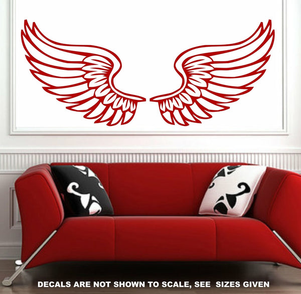 Angel Wings Wall Art Sticker Vinyl Decal Various Sizes