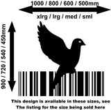 Bird Barcode 12 Wall Art Sticker Vinyl Decal Various Sizes