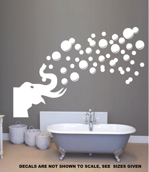 Elephant Blowing Bubbles Wall Art Sticker Vinyl Decal Various Sizes