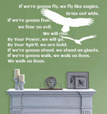 We Fly Like Eagles Wall Art Sticker Vinyl Decal Various Sizes