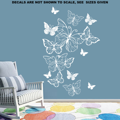 Butterfly Cloud Wall Art Sticker Vinyl Decal
