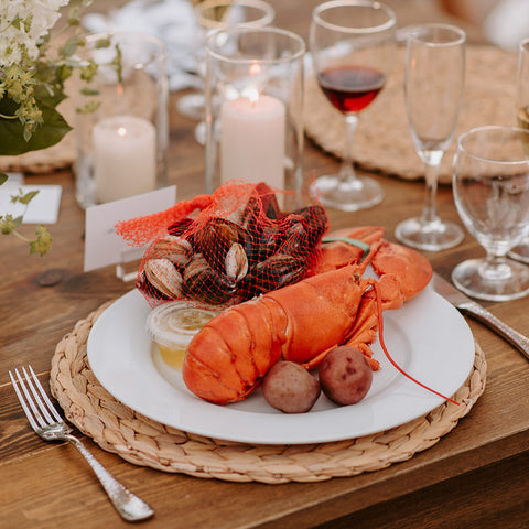 Clambake wedding tablescape