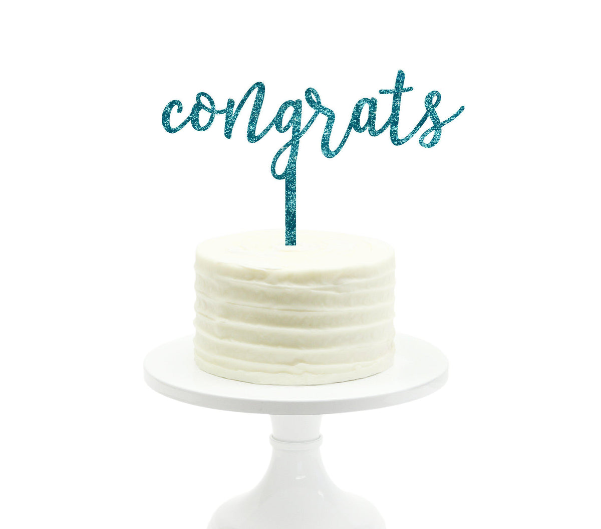 Congrats Glitter Acrylic Party Cake Topper — Koyal Wholesale