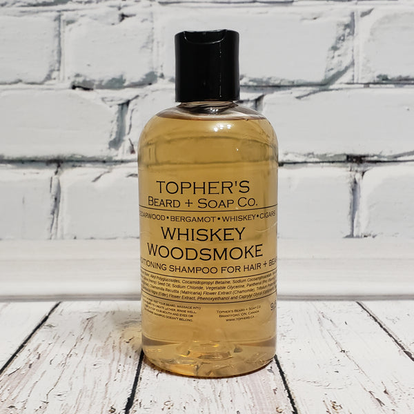 Whiskey Woodsmoke - 2 IN 1 HAIR + BEARD SHAMPOO