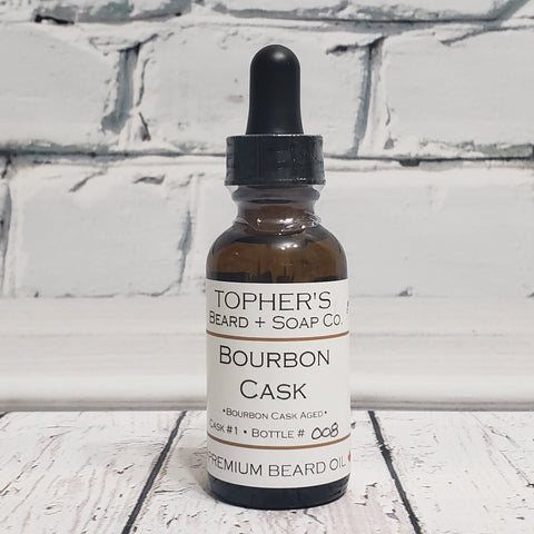 Bourbon Cask Barrel Aged Premium Beard Oil