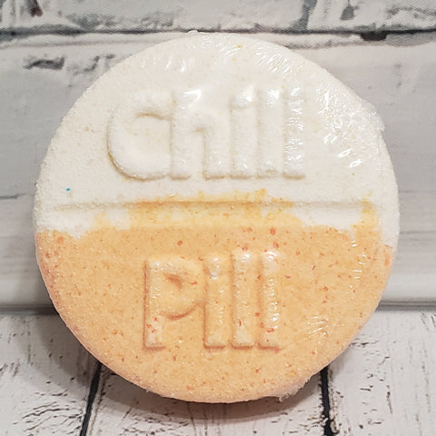 Orange Vanilla Chill Pill Bath Bomb