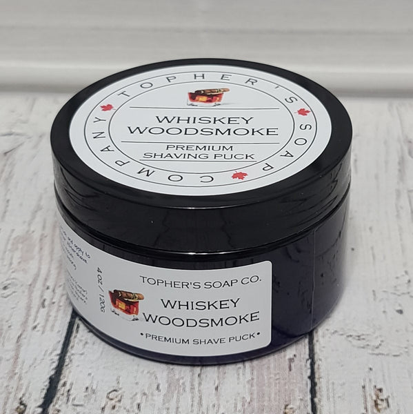 Whiskey Woodsmoke Shave Puck