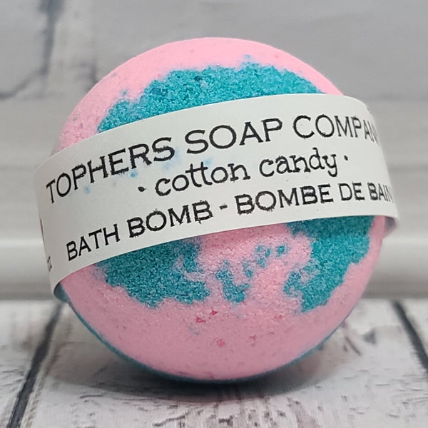 Cotton Candy Foaming Bath Bomb