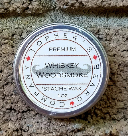 Whiskey Woodsmoke 'Stache Wax