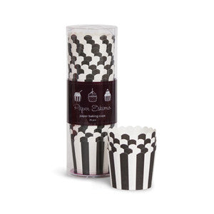 Baking Cups Black & White Stripes - Paper Eskimo - 1