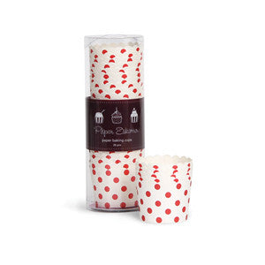 Baking Cups Red & White Spots - Paper Eskimo - 1